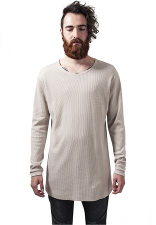 Urban Classics Long Shaped Waffle Longsleeve Tee in sand von S-2XL – Bild 1