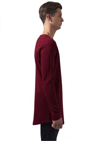 Urban Classics Long Shaped Waffle Longsleeve Tee in rot von S-2XL – Bild 3
