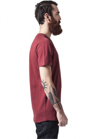 Urban Classics Peached Shaped Long Tee in rot von S-2XL – Bild 4