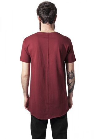 Urban Classics Long Open Edge Front Zip Tee in rot von S-2XL – Bild 2