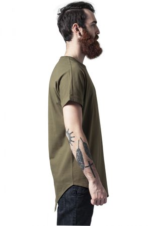 Urban Classics Asymetric Long Tee in olive von S-2XL – Bild 4