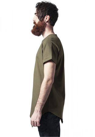 Urban Classics Asymetric Long Tee in olive von S-2XL – Bild 3