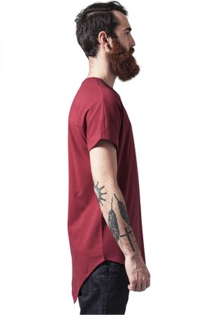 Urban Classics Asymetric Long Tee in rot von S-2XL – Bild 4
