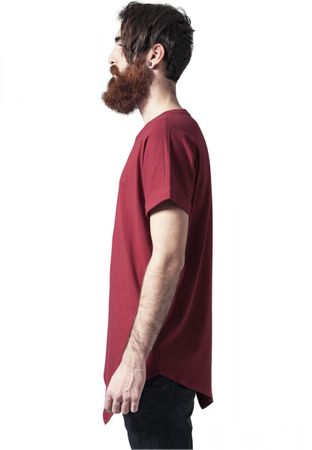 Urban Classics Asymetric Long Tee in rot von S-2XL – Bild 3