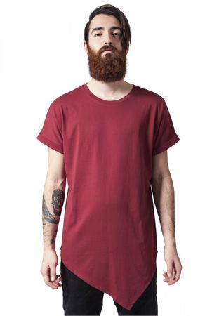 Urban Classics Asymetric Long Tee in rot von S-2XL – Bild 1