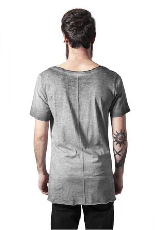 Urban Classics Asymetric Long Spray Dye Tee in grau von S-2XL – Bild 2