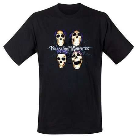 Bullet For My Valentine Bandshirt Skulls in M