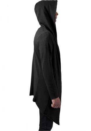 Long Hooded Open Edge Cardigan charcoal von S-5XL – Bild 3
