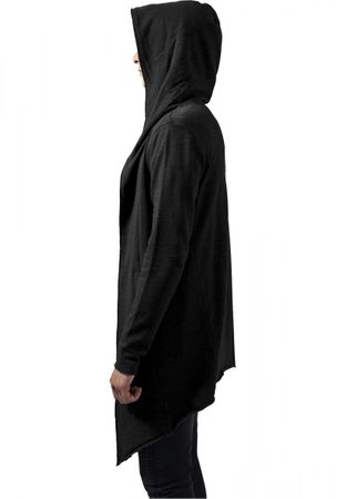Long Hooded Open Edge Cardigan charcoal von S-5XL – Bild 4