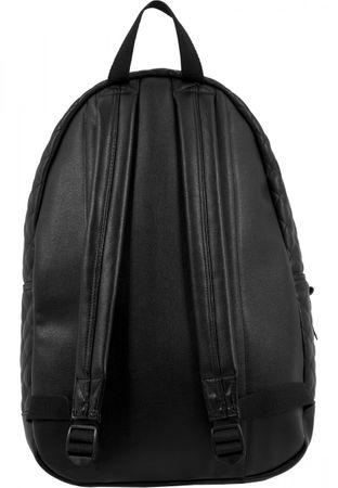 Urban Classics Diamond Quilt Leather Imitation Rucksack in schwarz – Bild 3