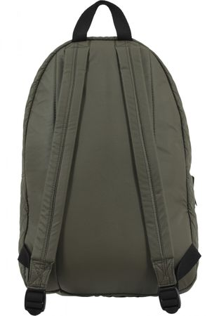 Urban Classics Diamond Quilt Leather Imitation Rucksack in olive – Bild 3