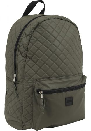 Urban Classics Diamond Quilt Leather Imitation Rucksack in olive – Bild 1