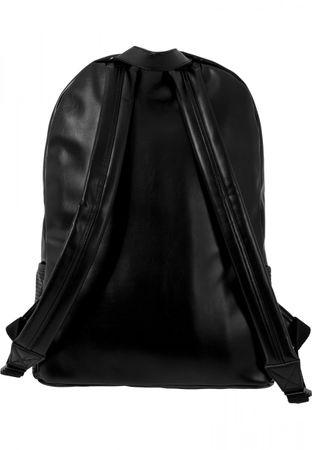 Urban Classics Perforated Leather Imitation Backpack schwarz – Bild 3