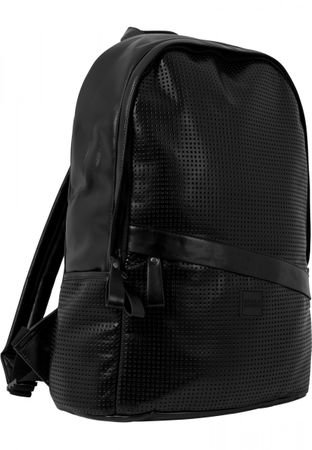 Urban Classics Perforated Leather Imitation Backpack schwarz – Bild 1