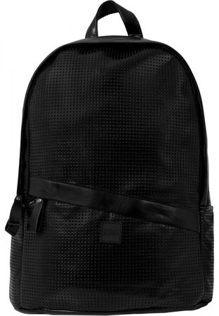 Urban Classics Perforated Leather Imitation Backpack schwarz – Bild 2