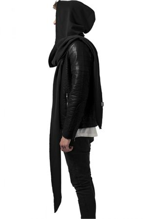 Urban Classics Terry Hooded Scarf in schwarz – Bild 4