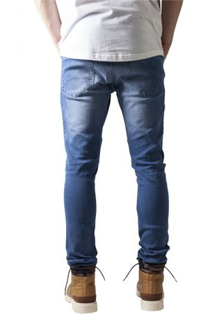 Urban Classics Slim Fit Biker Jeans in bluewashed von W30 bis W38 – Bild 2