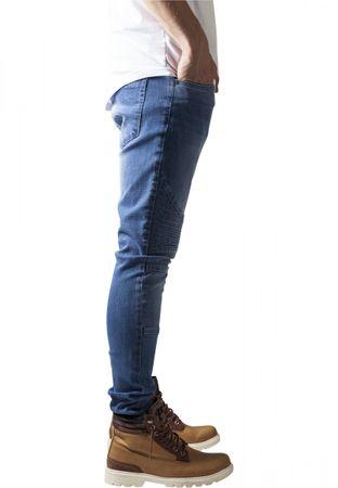 Urban Classics Slim Fit Biker Jeans in bluewashed von W30 bis W38 – Bild 3