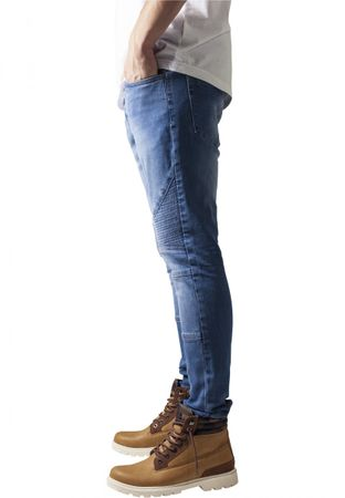 Urban Classics Slim Fit Biker Jeans in bluewashed von W30 bis W38 – Bild 4