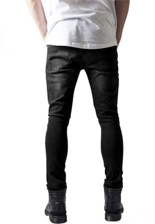 Urban Classics Slim Fit Biker Jeans in blackwashed von W30 bis W38 – Bild 2