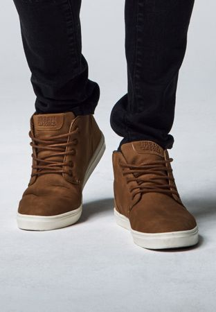 Urban Classics Hibi Mid Shoe in braun-weiß von 36-47 – Bild 1