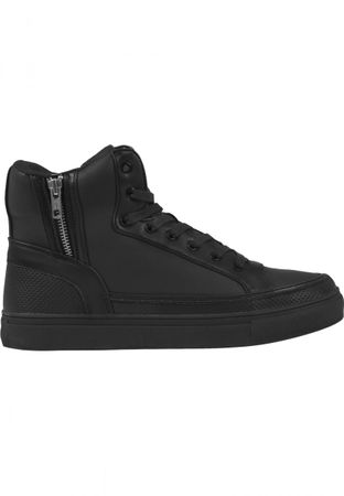 Urban Classics Zipper High Top Shoe in schwarz von 36-47 – Bild 3
