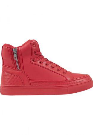 Urban Classics Zipper High Top Shoe in rot von 36-47 – Bild 4