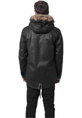 Urban Classics Coated Cotton Parka in schwarz von S-2XL – Bild 2