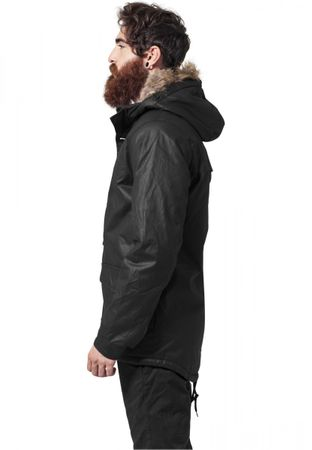 Urban Classics Coated Cotton Parka in schwarz von S-2XL – Bild 4
