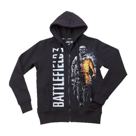 Battlefield 3 Zip-Kapuzensweater - Smoking Soldier schwarz in M