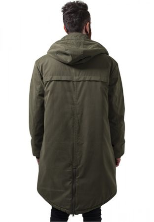 Urban Classics Cotton Peached Canvas Parka in olive von S-2XL – Bild 4