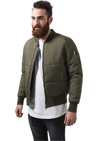 Urban Classics Basic Quilt Bomber Jacket in olive von S-2XL – Bild 1