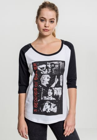 Ladies 5 Seconds of Summer Stacked Raglan Band Shirt von XS-XL – Bild 1