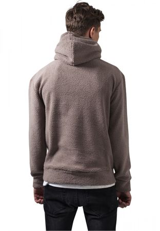 Urban Classics Sherpa High Neck Hoody in taupe von S-2XL – Bild 4