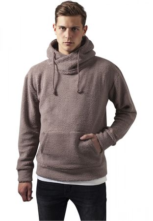 Urban Classics Sherpa High Neck Hoody in taupe von S-2XL – Bild 1