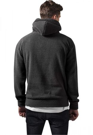 Urban Classics Sherpa High Neck Hoody in dunkelgrau von S-2XL – Bild 4