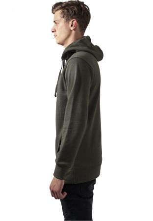 Urban Classics Loose Terry Long Hoody in olive von S-2XL – Bild 3