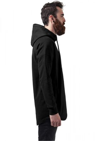 Urban Classics Long Shaped Hoody in schwarz von S-2XL – Bild 3