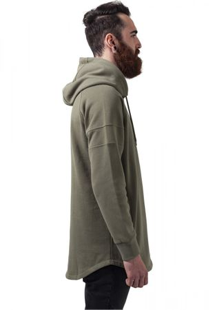 Urban Classics Long Shaped Hoody in olive von S-2XL – Bild 3
