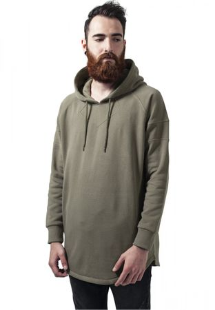 Urban Classics Long Shaped Hoody in olive von S-2XL – Bild 1