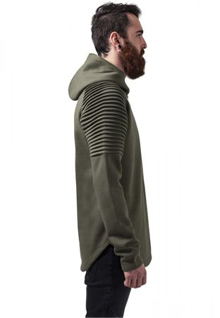 Urban Classics Pleat Sleeves Terry Hoody in olive von S-2XL – Bild 2