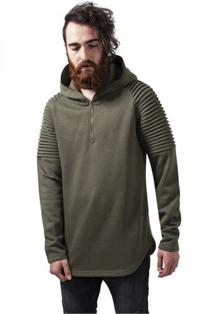 Urban Classics Pleat Sleeves Terry Hoody in olive von S-2XL – Bild 1