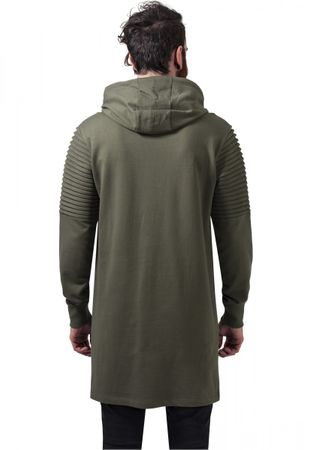 Urban Classics Pleat Sleeves Terry Hilo Hoody in olive von S-2XL – Bild 4