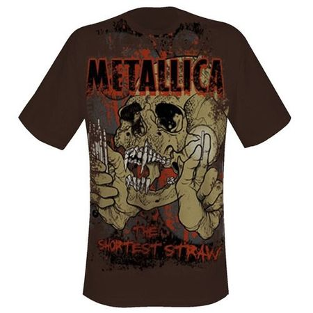 Metallica Band Shirt Shortest Straw Allover Limited von S-XL