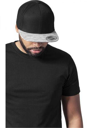 Flexfit Stripes Melange Visor Snapback Cap in schwarz-grau – Bild 1