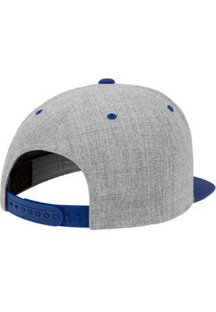 Flexfit / Yupoong Classic Snapback 2-Tone Cap in heathergrey-royal – Bild 5