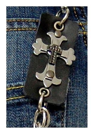 Kreuz Biker Hosenkette Schlüsselkette – Bild 2
