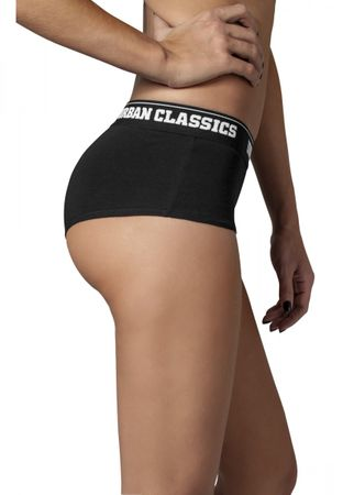Urban Classics Ladies Logo Panty Double-Pack in schwarz von XS-XL – Bild 3