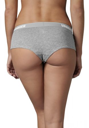 Urban Classics Ladies Logo Panty Double-Pack in grau von XS-XL – Bild 2