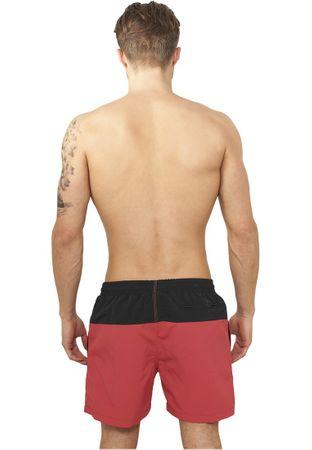 Urban Classics Block Swim Shorts in schwarz-rot von S-5XL – Bild 2
